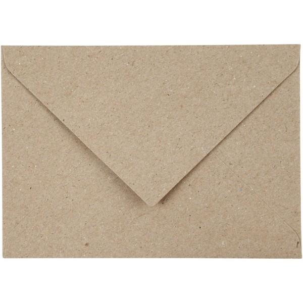 Enveloppe recyclée - 11,5 x 16 cm - 50 pcs - Photo n°1