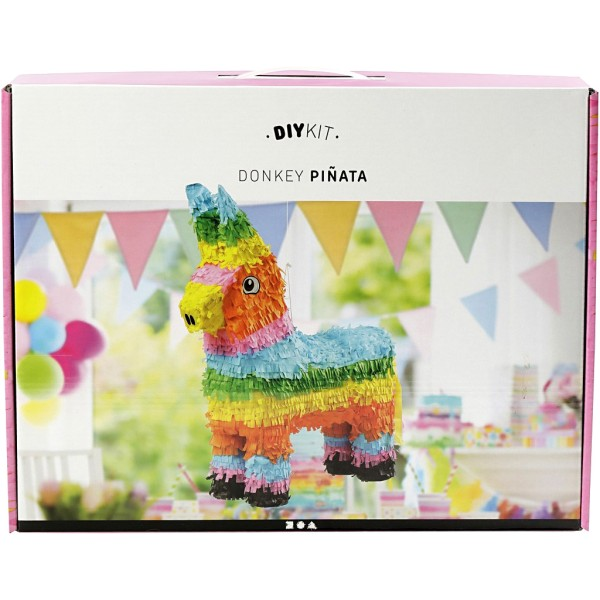Pinata Âne à assembler - 39 x 13 x 55 cm - Couleurs vives - Photo n°1