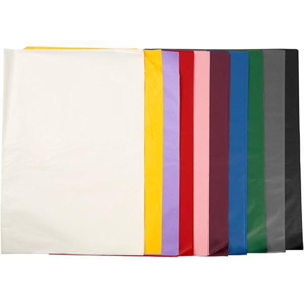 Assortiment de papier de soie - 50 x 70 cm - Couleurs assorties - 250 pcs - Photo n°1