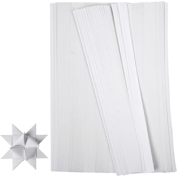 Kit de création d'étoile en papier - Blanc - 4,5 cm - 500 pcs - Photo n°1