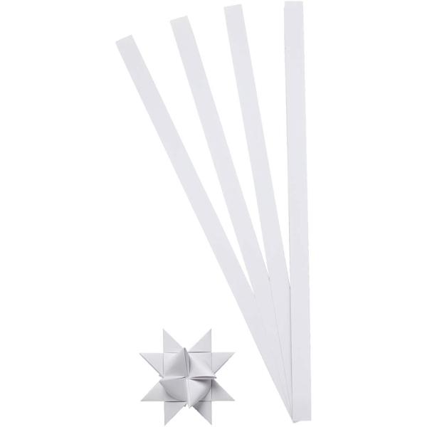 Kit de création d'étoile en papier - Blanc - 4,5 cm - 100 pcs - Photo n°1