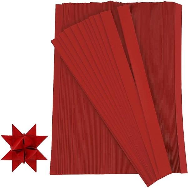 Kit de création d'étoile en papier - Rouge - 4,5 cm - 500 pcs - Photo n°1