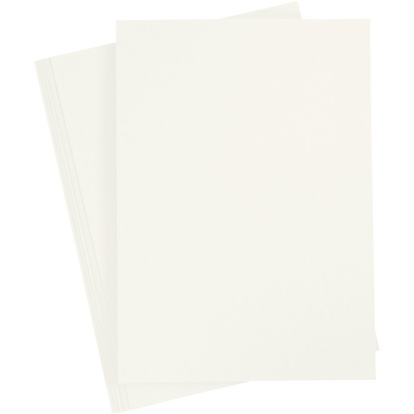 Papier cartonné - A4 - Ivoire - 180 gr - 20 feuilles - Photo n°1