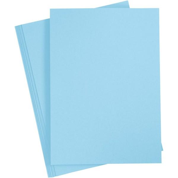Papier cartonné - A4 - Bleu ciel - 180 gr - 20 feuilles - Photo n°1