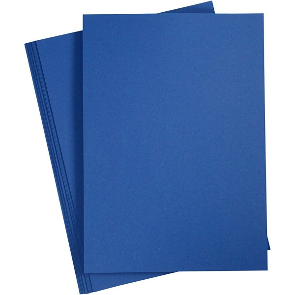 Papier cartonné - A4 - Bleu nuit - 180 gr - 20 feuilles - Photo n°1