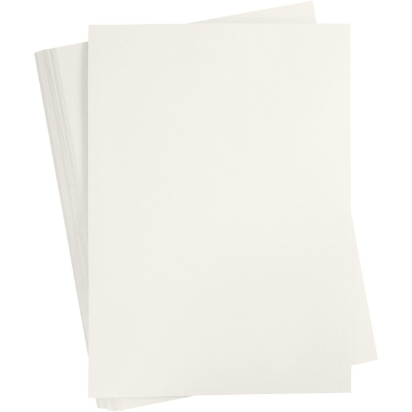 Papier cartonné coloré, A2 420x600 mm, 180 gr, 100 flles, ivoire - Photo n°1