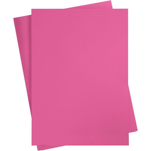Papier cartonné coloré, A2 420x600 mm, 180 gr, 100 flles, rose - Photo n°1