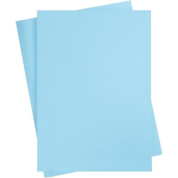 Papier cartonné coloré, A2 420x600 mm, 180 gr, 100 flles, bleu ciel - Photo n°1