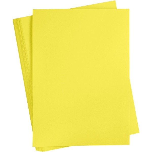 Papier cartonné coloré, A2 420x600 mm, 180 gr, 100 flles, jaune orange - Photo n°1