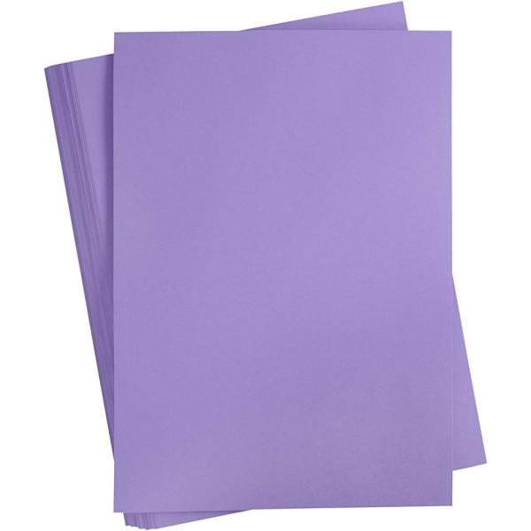 Papier cartonné coloré, A2 420x600 mm, 180 gr, 100 flles, pourpre - Photo n°1