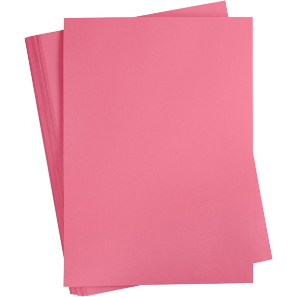 Papier cartonné coloré, A2 420x600 mm, 180 gr, 100 flles, rose antique - Photo n°1