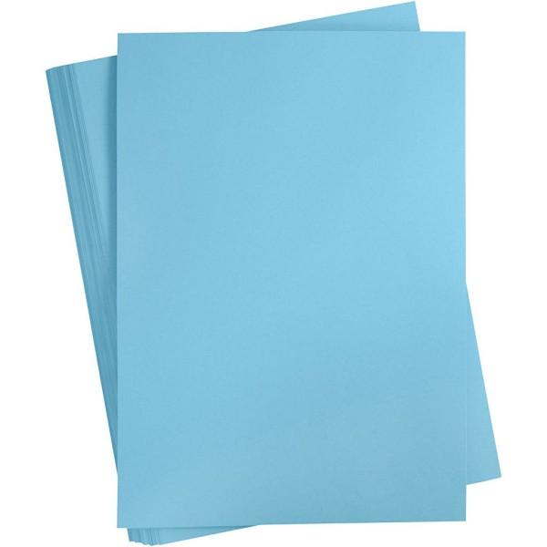 Carton coloré, A2 420x600 mm, 180 gr, 100 flles, bleu vif - Photo n°1