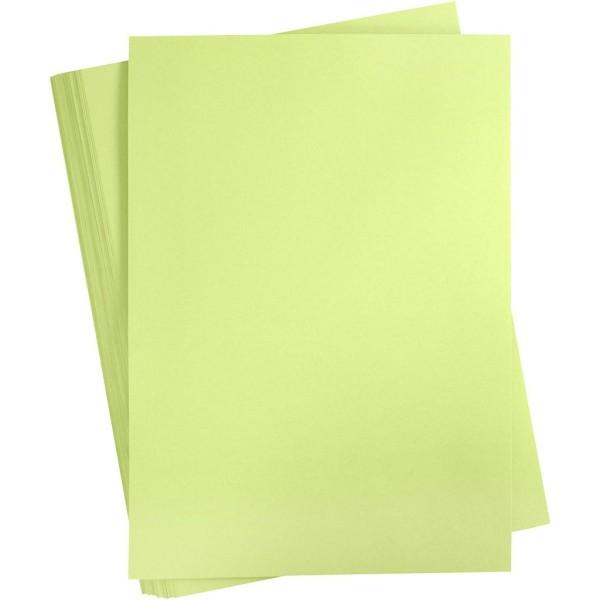 Carton coloré, A2 420x600 mm, 180 gr, 100 flles, vert citron - Photo n°1