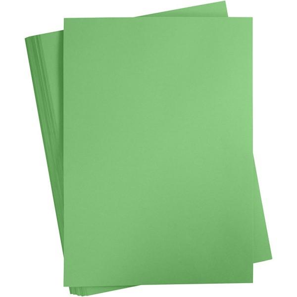 Carton coloré, A2 420x600 mm, 180 gr, 100 flles, vert pré - Photo n°1