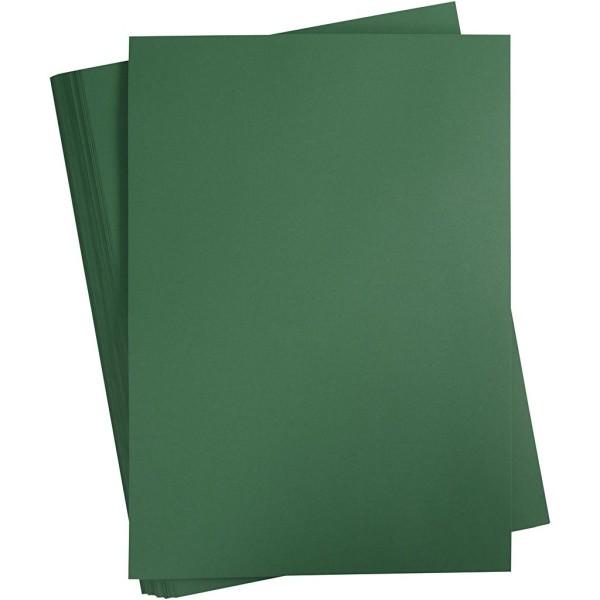 Carton coloré, A2 420x600 mm, 180 gr, 100 flles, vert sapin - Photo n°1