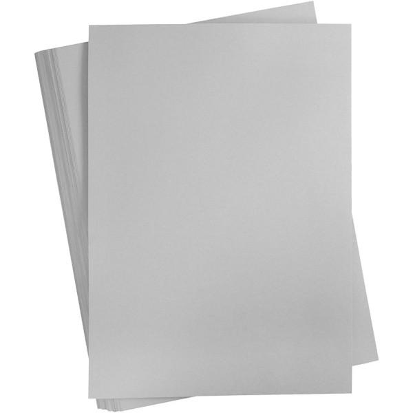 Carton coloré, A2 420x600 mm, 180 gr, 100 flles, gris acier - Photo n°1