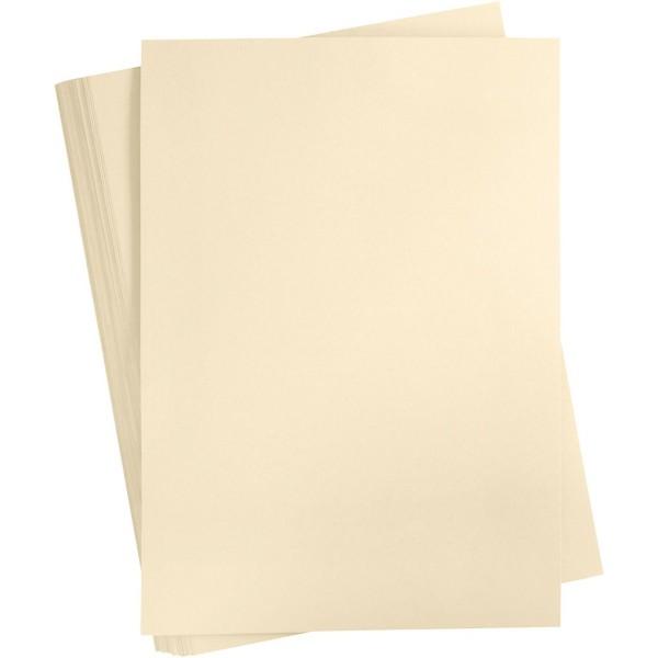 Carton coloré, A2 420x600 mm, 180 gr, 100 flles, sable - Photo n°1