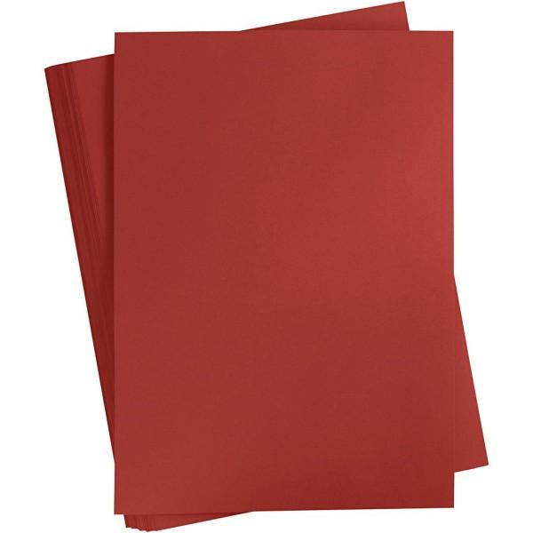 Carton coloré, A2 420x600 mm, 180 gr, 100 flles, bordeaux - Photo n°1