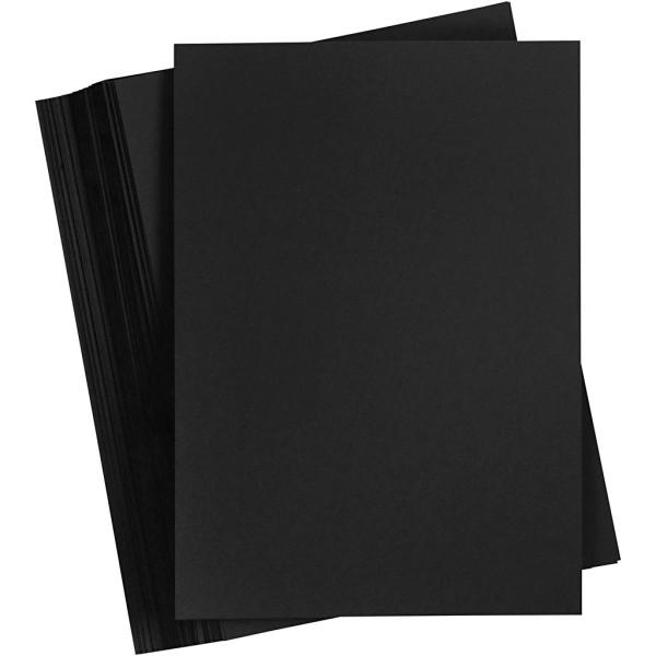 Cartons colorés Noir - A3 - 180 gr - 100 pcs - Photo n°1