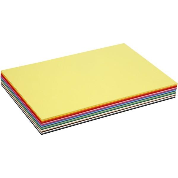 Papier cartonné - A3 - Couleurs assorties - 180 gr - 300 feuilles - Photo n°1