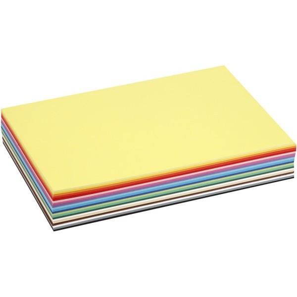 Papier cartonné A4 - 180 gr - Assortiment de couleurs - 300 pcs - Photo n°1