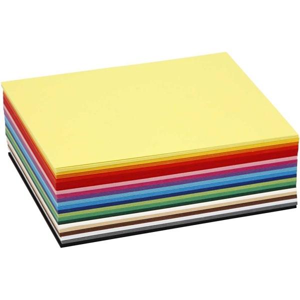 Papier cartonné A6 - 180 gr - Assortiment de couleurs - 300 pcs - Photo n°1