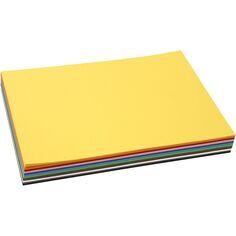 Cartes A4 - 180 gr - Assortiment de couleurs - 120 pièces