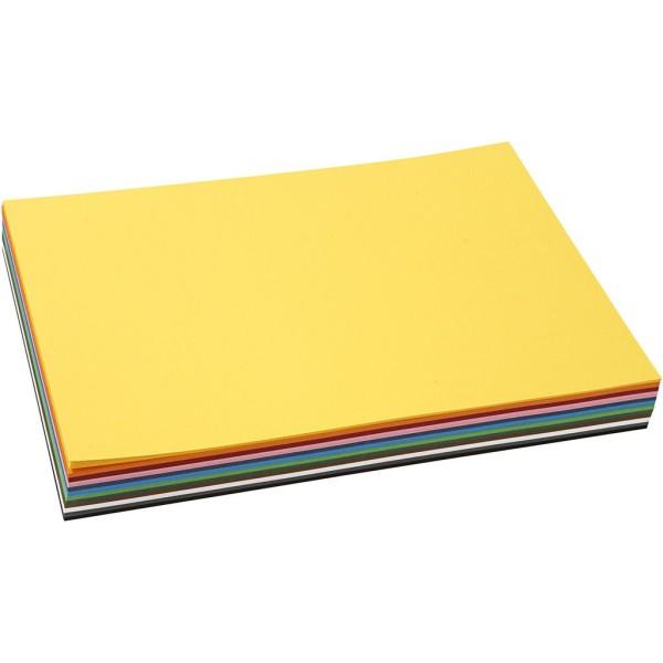 Papier cartonné A4 - 180 gr - Assortiment de couleurs - 120 pcs - Photo n°1