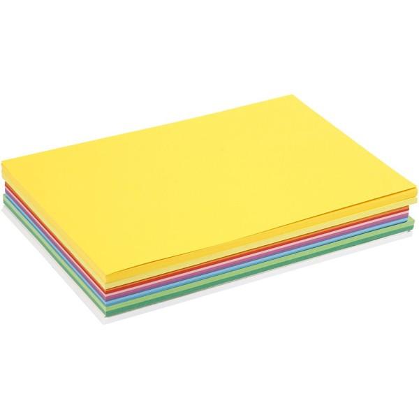 Papier cartonné A4 - 180 gr - Assortiment de couleurs - 30 pcs - Photo n°1