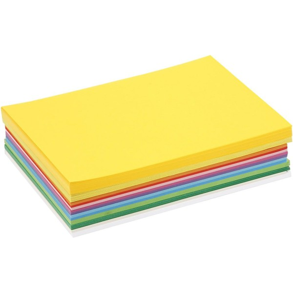 Papier cartonné A5 - 180 gr - Assortiment de couleurs - 300 pcs - Photo n°1