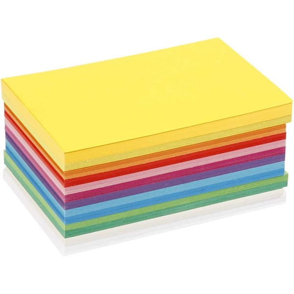 Papier cartonné A6 - 180 gr - Assortiment de couleurs - 120 pcs - Photo n°1