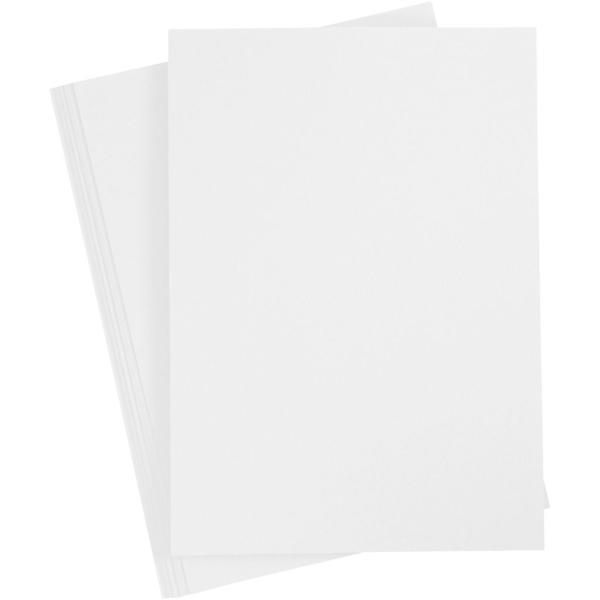 Assortiment de papier cartonné Blanc - A4 - 210-220 gr -10 pcs - Photo n°1