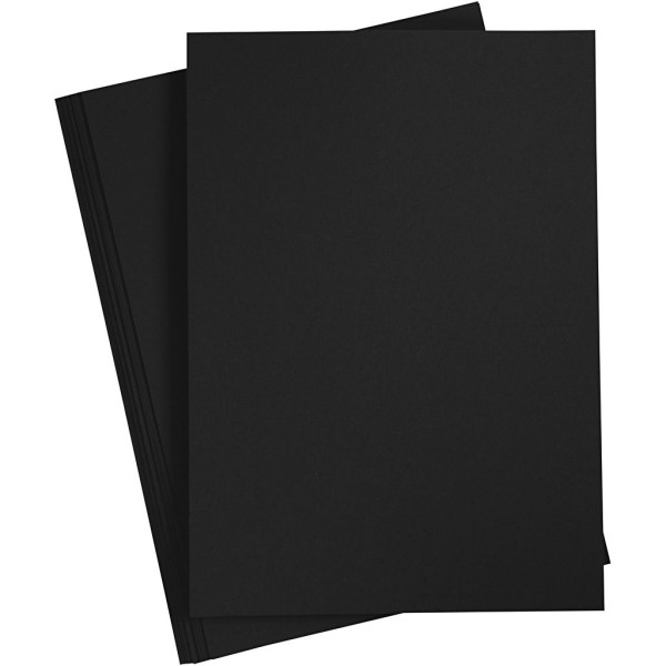 Assortiment de papier cartonné Noir - A4 - 210-220 gr - 10 pcs - Photo n°1