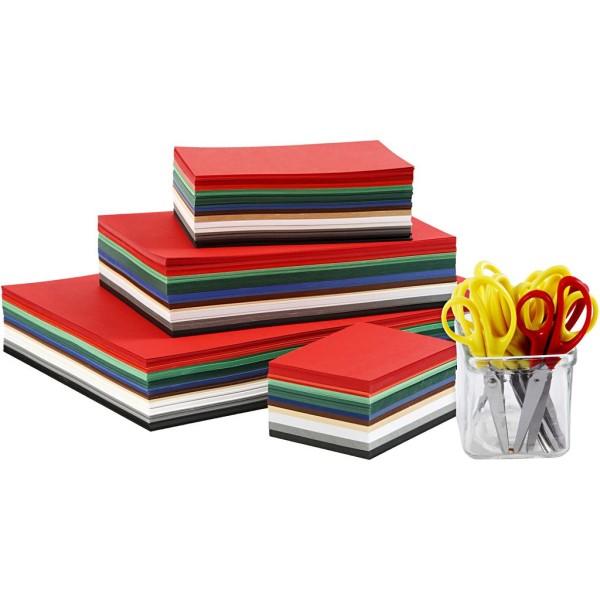 Set de papier cartonné et ciseaux pour enfant - Noël - 1512 pcs - Photo n°1