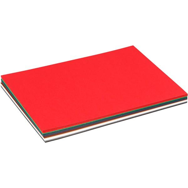 Papier cartonné Noël - Format A5 - 60 pcs - Couleurs assorties - Photo n°1