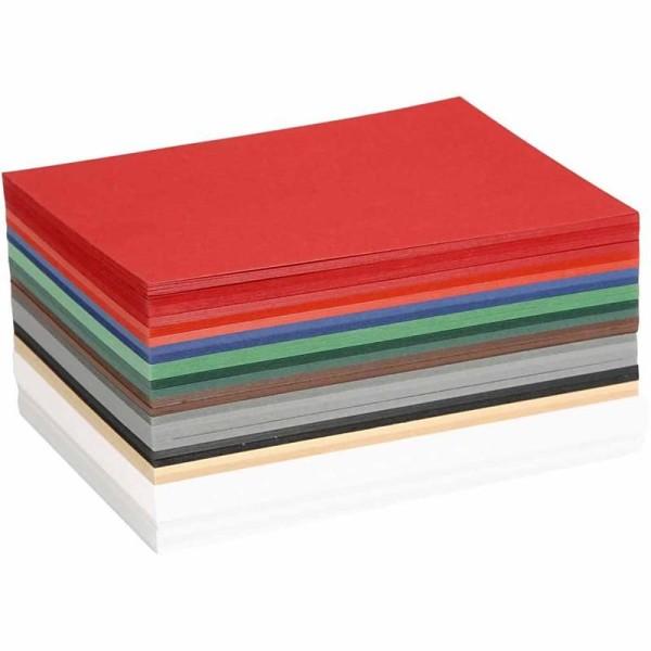 Papier cartonné Noël - Format A6 - 300 pcs - Couleurs assorties - Photo n°1