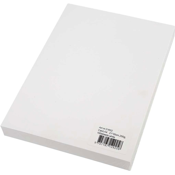 Papier cartonné A4 - Blanc - 250 g - 100 pcs - Photo n°2