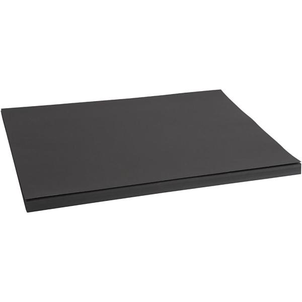 Papier cartonné, A2 420x600 mm, 200 gr, 100 flles, noir - Photo n°1