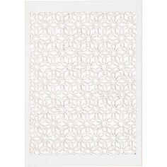Papier cartonné Blanc 200 g avec motif dentelle - 10,5 x 15 cm - 10 feuilles
