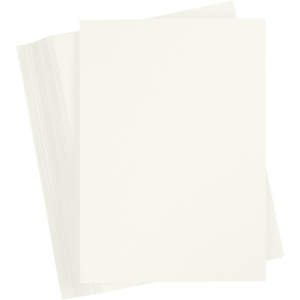 Papier cartonné - A6 - Ivoire - 180 gr - 100 feuilles - Photo n°1