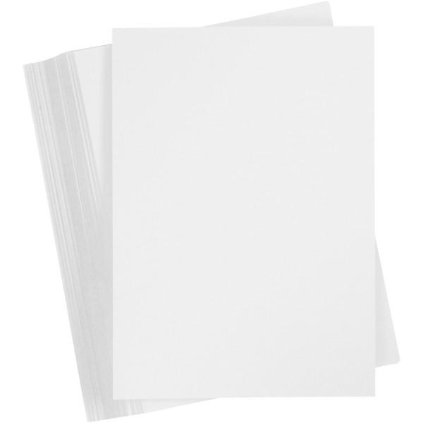 Papier cartonné - A6 - Blanc neige - 180 gr - 100 feuilles - Photo n°1
