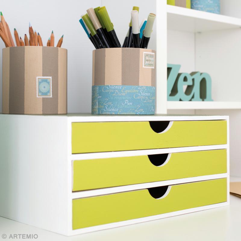 Rangement à décorer en bois - 34,5 x 34 x 15,5 cm - Photo n°2