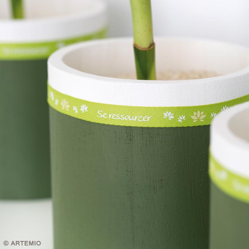 Vases ronds à décorer en bois - 9 - 11 et 13 cm - Photo n°2