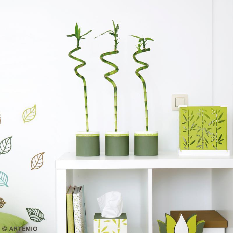 Vases ronds à décorer en bois - 9 - 11 et 13 cm - Photo n°3