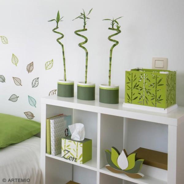 Vases ronds à décorer en bois - 9 - 11 et 13 cm - Photo n°4