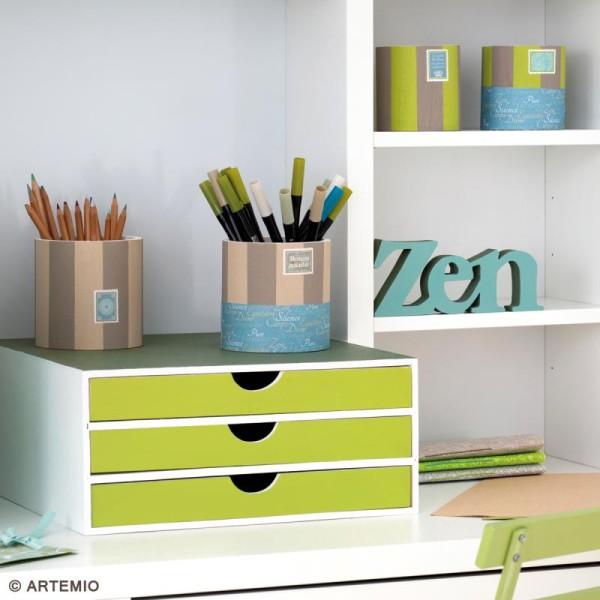 Vases ronds à décorer en bois - 9 - 11 et 13 cm - Photo n°5