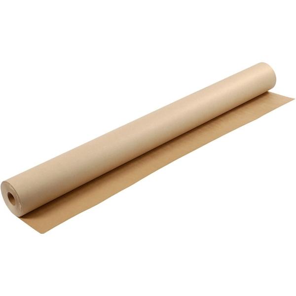 Papier kraft en rouleau, l: 150 cm, 200 gr, 50 m, brun - Photo n°1