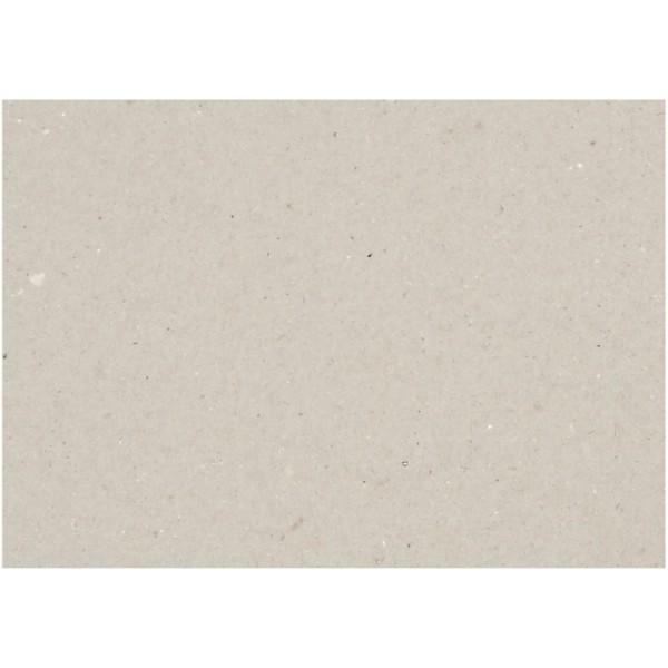 Carton gris 25 x 35 cm - Epaisseur 2 mm - 10 pcs - Photo n°1