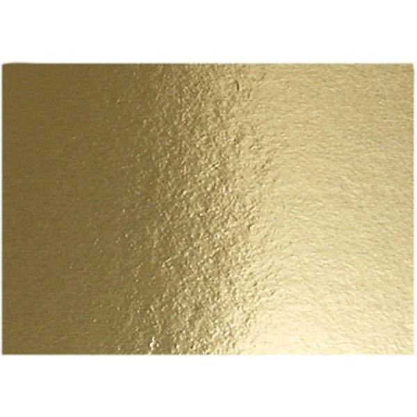 Papier métallisé - A4 - 280g - Or - 10 feuilles - Photo n°1