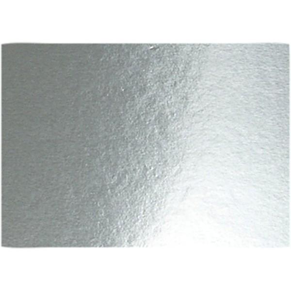 Papier métallisé - A4 - 280g - Argent - 10 feuilles - Photo n°1